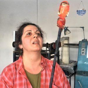 Cristina Ilinca - checking up the work in progress